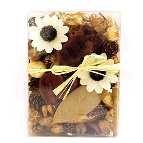 Qingbei Rina Gifts,Natural Cinnamon Potpourri Bag,including flower,leaves,Petal,Pinone,Perfume Satchet in PVC Gaine.Home Decoration.about 14.5oz. (Natural Flower) by Qingbei Rina