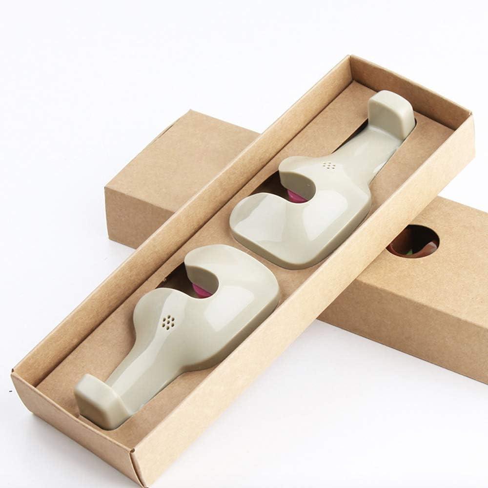 Universal Car Vehicle Back Seat Headrest Hanger Holder Hook for Bag Purse Cloth Grocery with Glasses clip Beige -Set of 2
