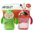 Philips AVENT BPA Free Natural Drinking Cup, Pink and Green, 9 Ounce, 2-Count (Discontinued by Manufacturer)