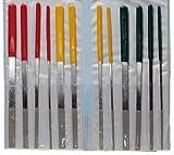 12pc 7'' 180mm Diamond Flat File Set = ceramics + tile + glass
