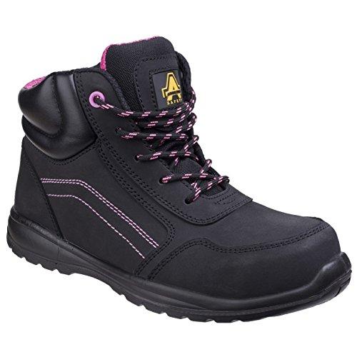 Damen Safety Amblers Composite Stiefel Zip Schwarz Safety mit 6Tx5Zq