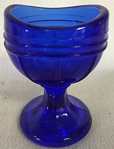 Glass Ribs (Eye Wash Bath Cup - Raised Rib Style (Cobalt Blue)