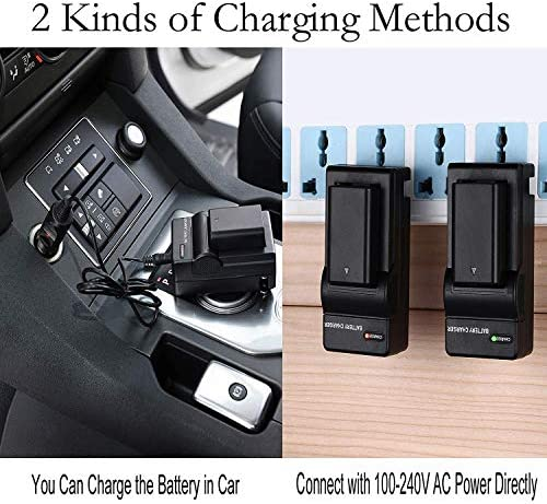 LCD Micro USB Battery Charger For Sony CCD-TRV308 CCD-TRV318 CCD-TRV328 CCD-TRV338 CCD-TRV408 CCD-TRV418 CCD-TRV428 CCD-TRV608 Hi8 Camcorder