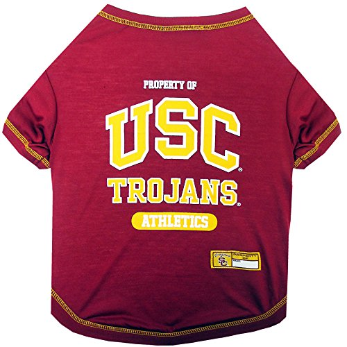 NCAA USC Trojans Dog T-Shirt, X-Small