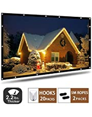 Projector Screen,120 inch Portable Projection Screen with 16:9 HD Movie Screen and Foldable for Home Cinema (120 Inch) …