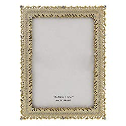 Crystals Studded Classic Gold Tone Picture Frame