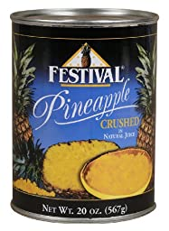 Festival Pineapple Crushed in juices Choice, 20-Ounce (Pack of 24)