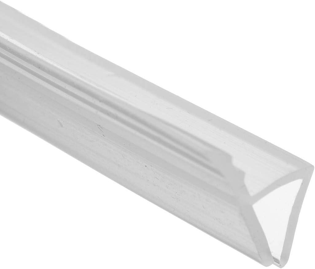 10 mm Tira de sellado flexible de 2 m de longitud para mampara de ba/ño o ducha de 6-12 mm de grosor dDanke