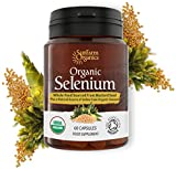 Organic Selenium 200 mcg with Iodine and Silica all from Certified Organic Whole Foods – Two Month Supply For Sale