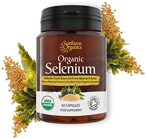 Organic Selenium 200 mcg with Iodine and Silica All from Certified Organic Whole Foods - Two Month Supply (Organic Iodine Supplement)