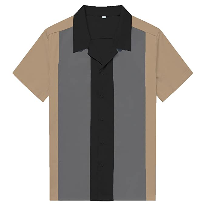 Candow Look Hombre Personalidad Color De Contraste Camisas Men Collared Shirts HtEa7