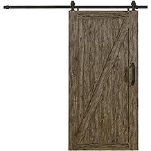 "LTL Home Products MLB4284WGZKD Millbrooke Pvc Barn Door Kit, 42"" x 84"", Weathered Grey"