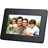 Micca M707z 7-Inch 800×480 High Resolution Digital Photo Frame With Auto On/Off Timer, MP3 and Video Player (Black)
