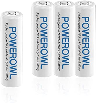 POWEROWL High Capacity Rechargeable AAA Batteries 1000mAh 1.2V NiMH Low Self Discharge AAA Rechargeable Batteries 24 Pack