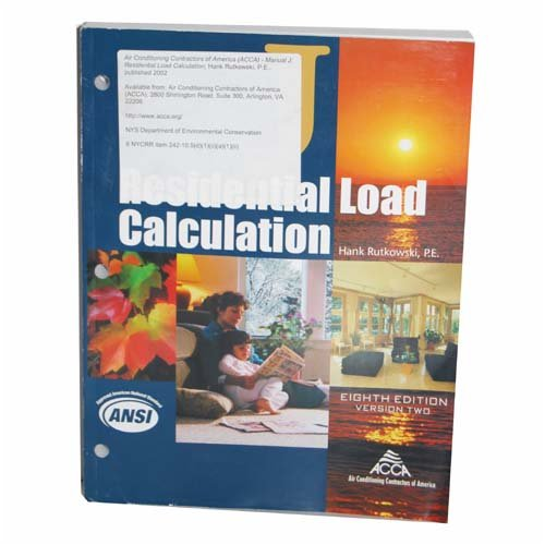 Manual J Residential Load Calculation (8th Edition) (Version 2)