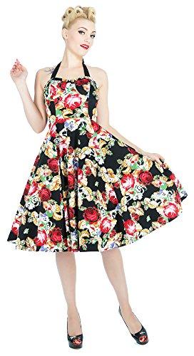 9485 London Noir Dress R H Floral Robe Rose amp; 8OnwEx