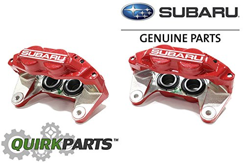 2006-2007 Subaru Impreza WRX Front Left & Right Brake Caliper SET RED OEM NEW