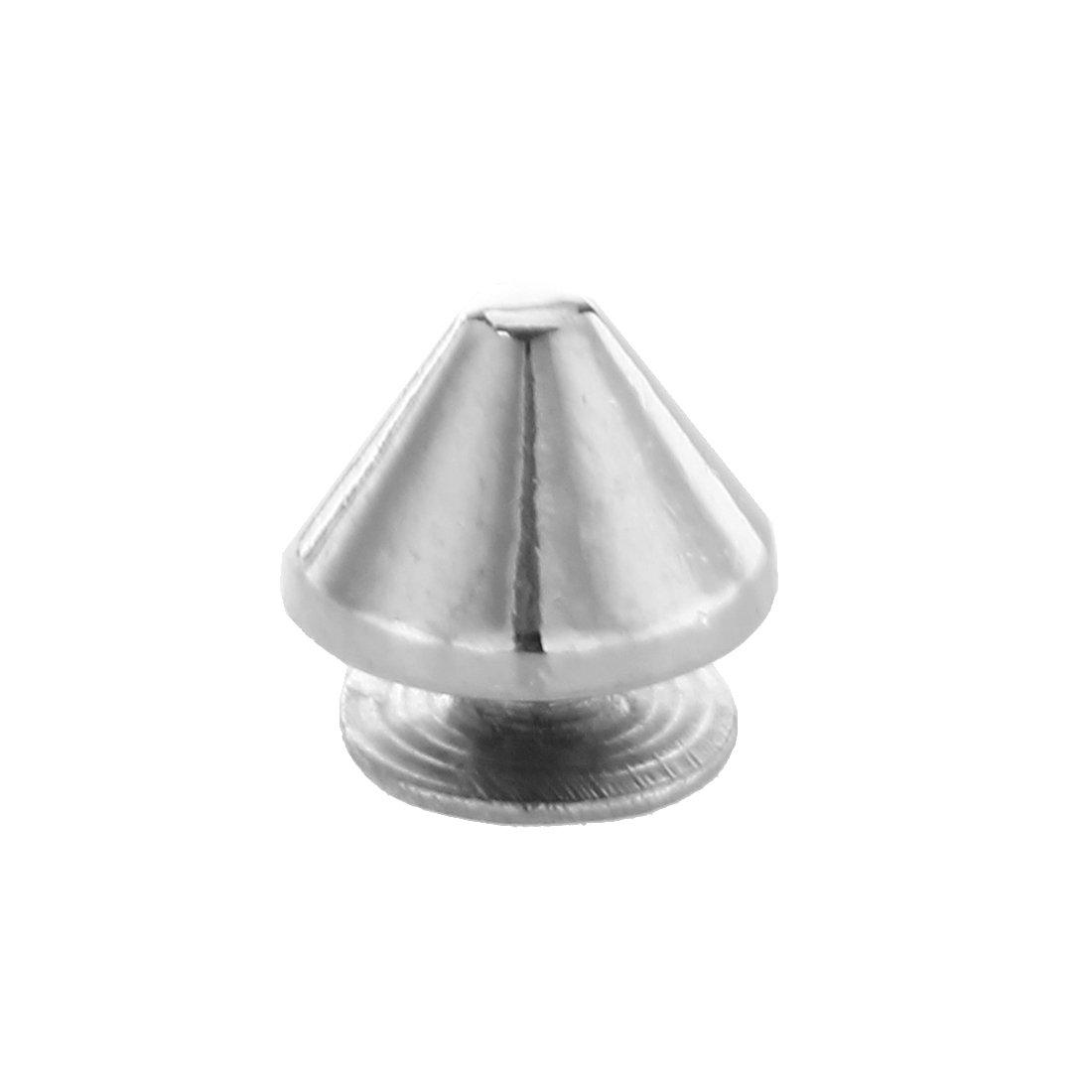 WOVELOT 10 Stuck Kupfer Schraubnieten Killer Nieten Killernieten Spikes Silber Farbe NEU