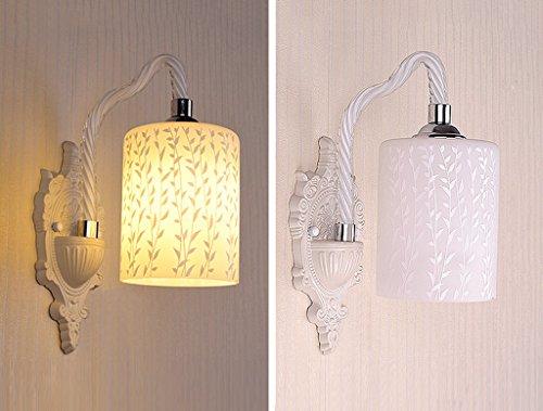 Wandleuchte Wandmontiert E27-LED Glas Wohnzimmer Korridor Schlafzimmer Nachttischlampe 5W (Farbe : B)