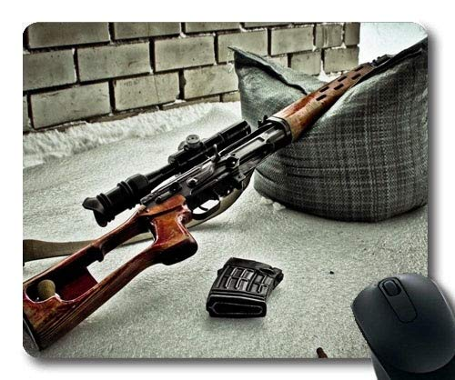 (Gaming Mouse pad,Gun Magazine Holder,Gun hd s,Mouse Pad with Stitched Edges)