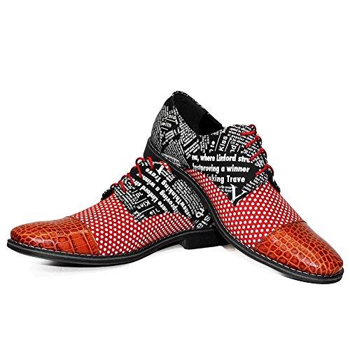 Lacer pour Chaussures Oxfords de Handmade Vachette Cuir gaufré Cuir Cuir des Coloré Modello Fularo Hommes Italiennes wqCFFg
