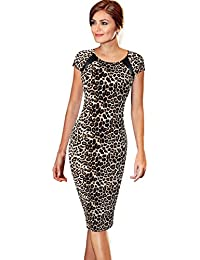 Women's Printed Patterned Casual Slimming Fitted Stretch Bodycon Dress