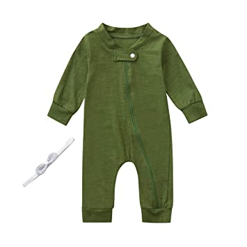 1ff0cb7e571d Newborn Kids Clothes Infant Unisex Baby Outfits Long Sleeves Front ...