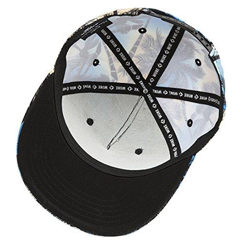 ChezAbbey 3D Printed Solid Brim Hip Hop Adjustable Hat Snapback Baseball Cap by ChezAbbey (Image #4)