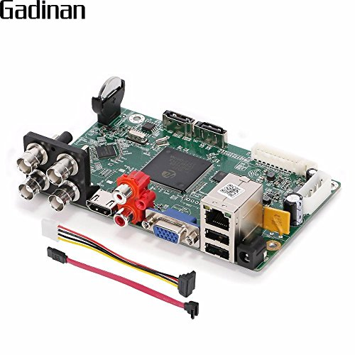 hitsan Gadinan AHD DVR 4ch 2MP 1080N H 264CVI TVI AHD analógico IP 5en 1Híbrida grabadora de vídeo Seguridad...