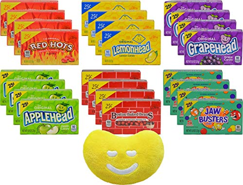 Ferrara Pan Candy (Ferrara Pan 24 Count, 6 Flavor By The Cup Pack, 4 Boxes of Each Ferrara Favorite with Jelly Belly Mini Emoji)