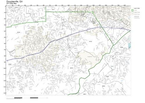 (ZIP Code Wall Map of Douglasville, GA ZIP Code Map Not)