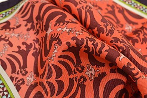 (エミリオプッチ)ポケットチーフ メンズ プッチ柄シルクポケットチーフ(サイズ32×32cm)eep19w141 オレンジ