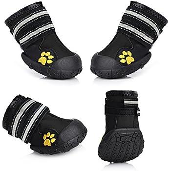 Amazon.com : Fantastic Zone Waterproof Dog Shoes Non-Slip