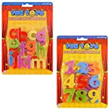 Magnetic Alphabet Letters & Numbers - Plastic Educational Toy (Pack of 2)