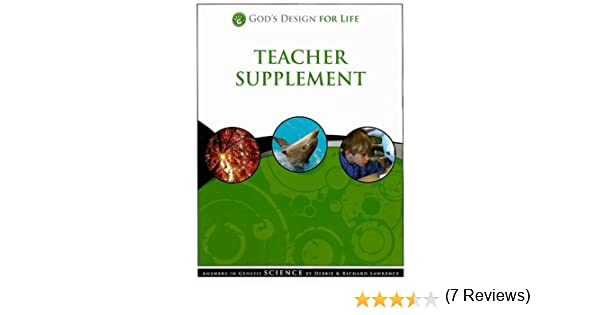 God's Design for Life Teacher Supplement: Answers in Genesis ...