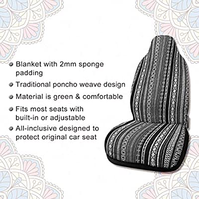 uxcell 10pcs Multi-color Blanket Durable Bucket Seat Cover Protector for Car: Automotive