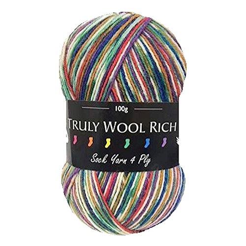 Cygnet Truly Wool Rich 4 Ply Sock Yarn - 4572 Mossdale (100g Balls)
