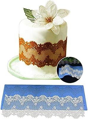 Icocol Lace Mold Silicone Flower Fondant Chocolate Wedding Cake