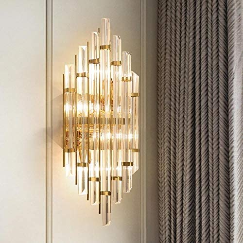 Sconce Antique Brass Clear Beveled Crystal Glass Wall Sconce Bathroom Vanity Light Crystal Light Shade Linear Stainless Steel Wall Chandelier With Sparking Clear Crystal Fittings