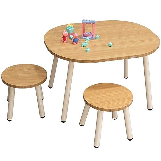 Set de escritorio y silla para niños Actividad de madera Silla ...