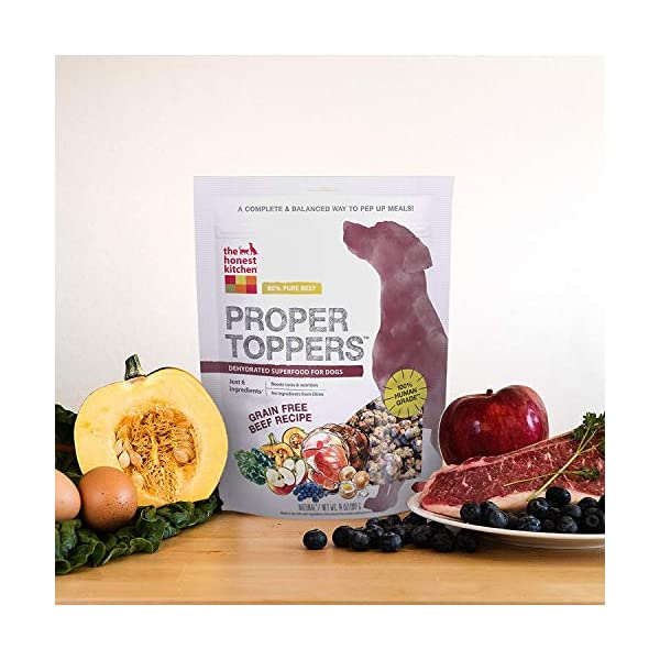 The Honest Kitchen Proper Toppers: Natural Human Grade Dehydrated Dog Superfood Toppers 14 oz - Cage Free Chicken 4