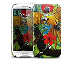 tropical parrot Samsung Galaxy S4 GS4 protective phone case