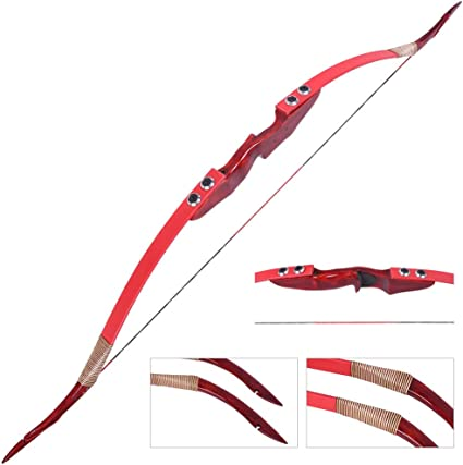 62/'/' Archery Wooden Recurve Bow Takedown 20-55lbs American Hunting Shooting