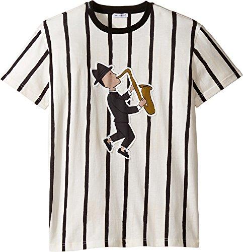 Dolce & Gabbana Kids Boy's Jazz Musician T-Shirt (Big Kids) Striped T-Shirt by Dolce & Gabbana