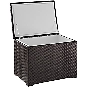 Image of Cooler Accessories Crosley Furniture Palm Harbor Outdoor Wicker 60-Quart Cooler - Brown