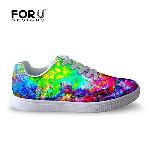 Pour U Conceptions Décontractée Galaxie Impression Hommes Bas Top Confortable Chaussures De Skateboard Lacets Sneaker Galaxy A6
