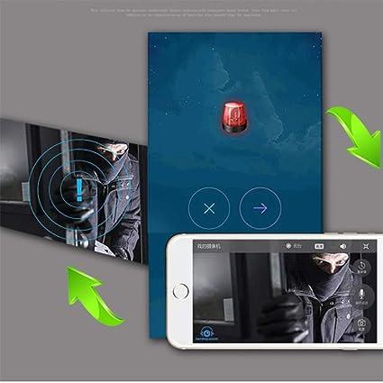 G&F Detector De Humo Oculto De La Cámara Espía De WiFi,Detector De Movimiento De La Leva De La Niñera Inalámbrica De HD 1080P/Visión Nocturna/Grabación del ...