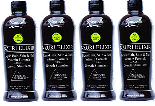 4-32 Oz Bottles - Nzuri Elixir - Liquid Hair Vitamin Plus Growth Stimulants by NZURI