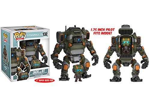 Mozlly Multipack - Funko Games Titanfall 2 Jack Pop! Vinyl Figure and BT Titan Vehicle - 6 inch Action Figure - Collectible Toy (2pc Set) (Pack of 6) - Item #S120079_X6 by Mozlly
