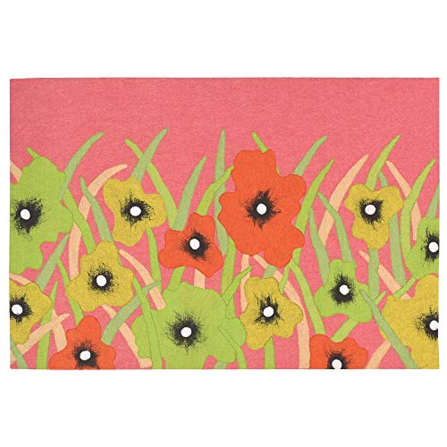 Liora Manne Illusions III Delicate Blooms Rug, Indoor/Outdoor, Blush